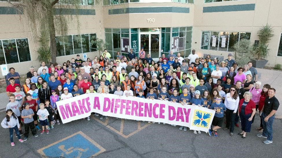 400 volunteers participated in the 2017 Make A Difference Day.