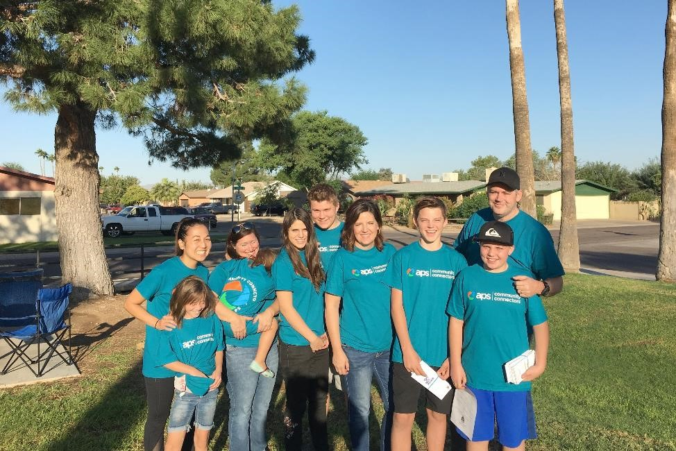 APS and La Joya HS volunteers distributed YANA door hangers to over 2,000 homes and 600 apartments in North Subdivision, Historic Goodyear, Canada Village and Wildflower Subdivision.