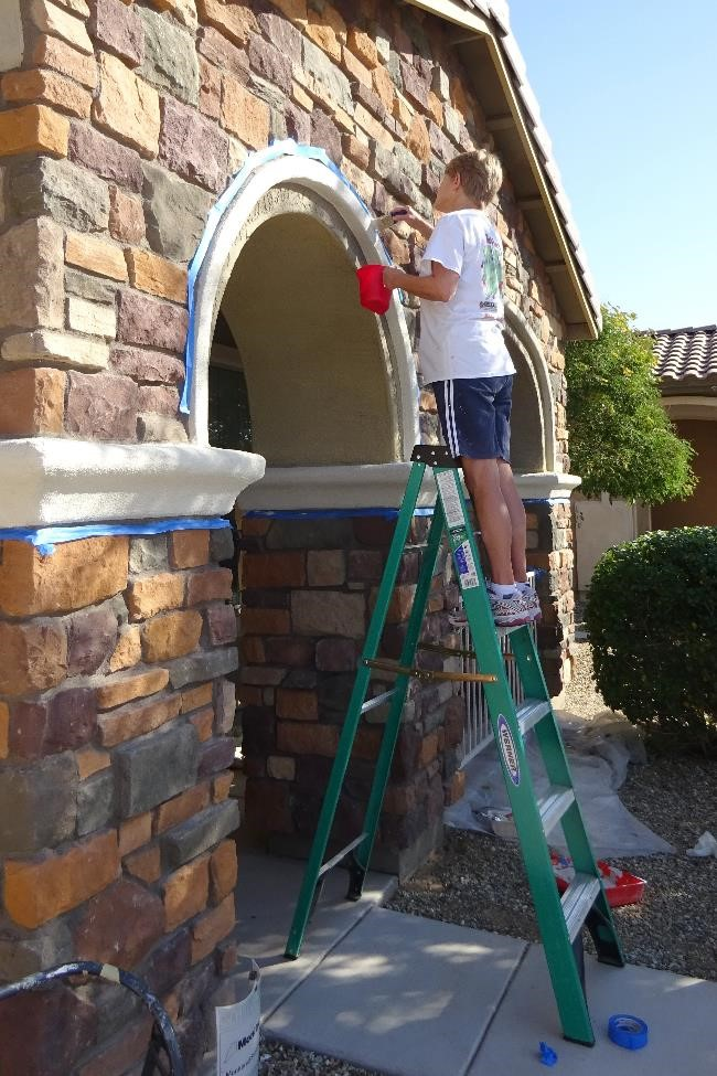 The Church at Litchfield Park volunteers painted the home of a YANA program participant