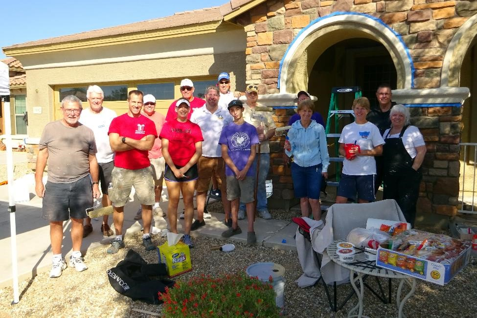 The Church at Litchfield Park volunteers painted the home of a YANA program participant.