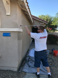 Palm Valley Church volunteers painted the home of a YANA program participant.