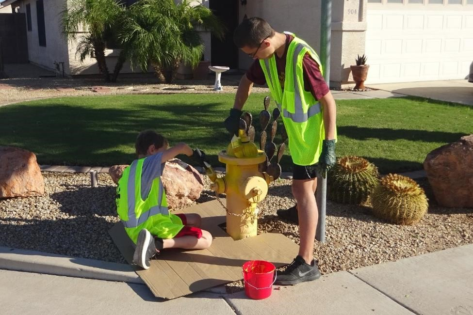 12 - Fire Hydrant Painting